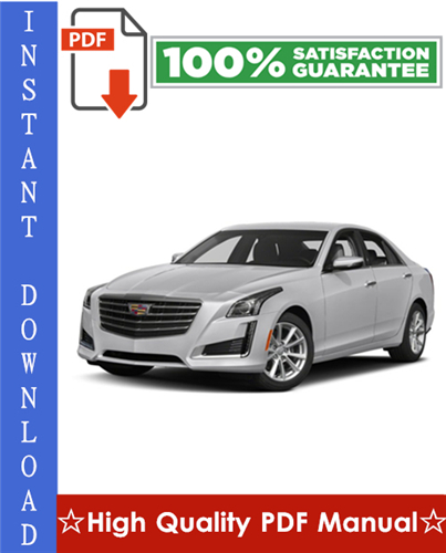 Cadillac CTS / CTS-V Workshop Service Repair Manual 2008-2009 Download