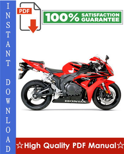 Thumbnail Honda CBR1000RR Motorcycle Workshop Service Repair Manual 2008-2009 Download