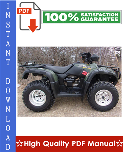 Thumbnail Honda TRX500FA Rubicon ATV Workshop Service Repair Manual 2001-2003 Download
