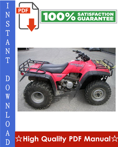 Thumbnail Honda TRX300 FOURTRAX / TRX300FW FOURTRAX 4x4 ATV Workshop Service Repair Manual 1988-1994 Download
