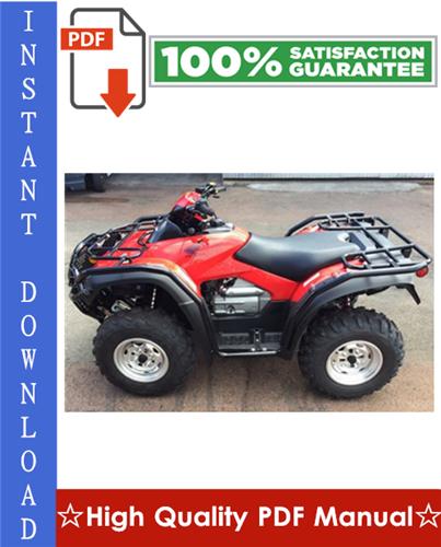 Thumbnail 2003 Honda TRX650FA Rincon ATV Workshop Service Repair Manual