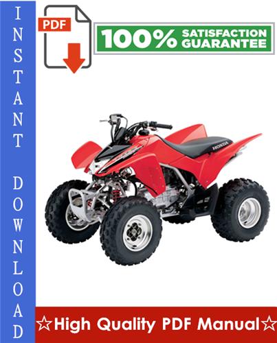 Thumbnail Honda TRX250EX Sportrax Workshop Service Repair Manual 2001-2005 Download