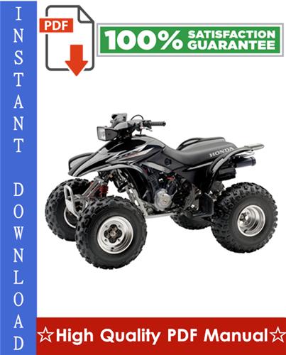 Thumbnail Honda TRX300EX Sportrax Workshop Service Repair Manual 2001-2006 Download