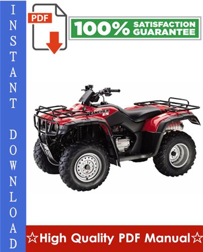Thumbnail Honda TRX350TM / TRX350TE Rancher & Honda TRX350FM / TRX350FE Rancher 4x4 ATV Workshop Service Repair Manual 2000-2003 Download
