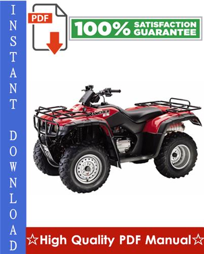 Thumbnail Honda TRX350 Fourtrax 4X4 & Honda TRX350D Foreman 4X4 ATV Workshop Service Repair Manual 1986-1989 Download