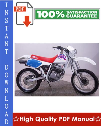 Thumbnail Honda XR250R Workshop Service Repair Manual 1996-2004 Download