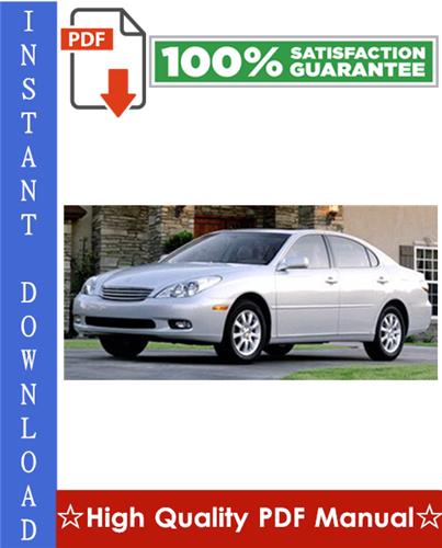 Lexus ES300 Workshop Service Repair Manual 1993-1997 Download