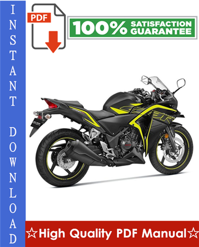 Product picture Honda CBR250 FOUR / CBR250R / CBR250RR Motorcycle Workshop Service Repair Manual 1987-1996 Download